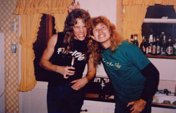 young hetfield and mustaine